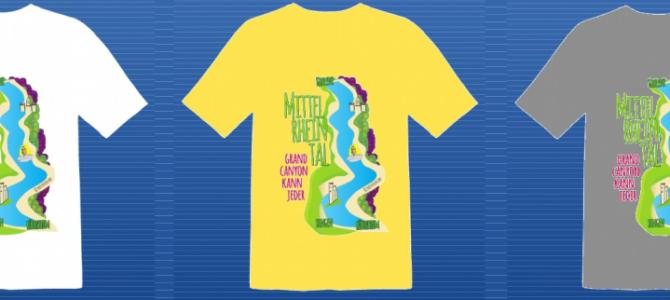 Das Obere Mittelrheintal prangt jetzt auf diesem Shirt
